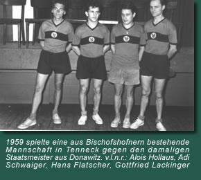 Alois Hollaus, Adi Schwaiger, Hans Flatscher, Gottfried Lackinger